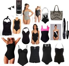 Black one piece bathing suits #summerstyle #projectinspired