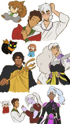 Voltron Legendary Defenders x Inuyasha crossover. Credits to the artist