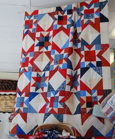 Glory Bound - photo of quilt for sale - I like the blocks....