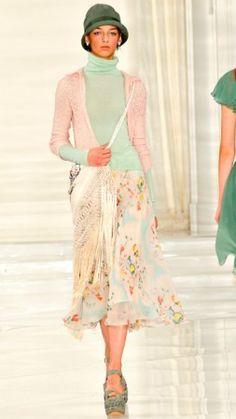 Tendência 2012   Dolce and Gabbanna Crochê e macramê são destaques na moda internacional