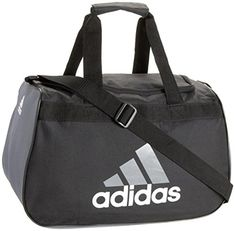 adidas Diablo II Gear Up Small Gym Travel All Sports Gear Duffle Bag  BlackStorm Grey    You can get more details by clicking on the image. 6eec77f0d1f36