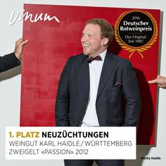 #DeutscherRotweinpreis 1. Platz Neuzüchtungen: Zweigelt «Passion» Württemberg 2012, Weingut Karl Haidle, Kernen-Stetten #Rotweinpreis #Deutscherwein
