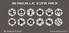 35 Metallic png icons Pack ~ Rkthemes   Download Free Themes For Nokia and Android Phones