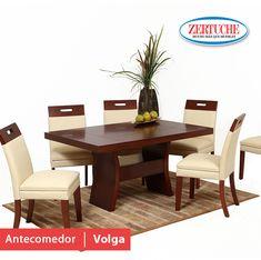 Antecomedor Volga Exclusivo comedor en estilo moderno compuesto de mesa y 6 sillas. ¡Llévatelo a 6 meses con tarjeta de crédito! #Muebles #Antecomedor #Calidad