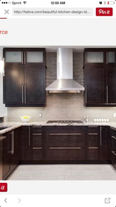 Kitchen Ideas Dark Cabinets Modern amazing contemporary kitchen design with espresso stained kitchen