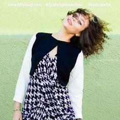 Grateful November by Fiftyloop Loren Lee Henderson  Green Wall background Curly hair = Gorgeous