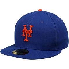 huge discount 1f242 0cfb1 Men s New York Mets New Era Royal AC On-Field 59FIFTY Game Performance  Fitted Hat