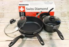 Win a Swiss Diamond Pan Set! Simply enter our giveaway before March for your chance to win this non-stick cook set! Cracker Barrel Recipes, New Recipes, Cooking Recipes, Bourbon And Boots, Fast Metabolism Diet, Pan Set, Food Reviews, Restaurant Recipes, Household Items