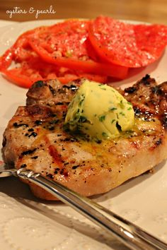 Brined Pork Chop with Herb Butter