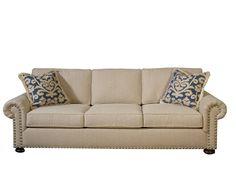 Warwick Sofa By Clayton Marcus Shown In A Blue Denim Fabric!
