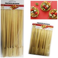 50 Bamboo Skewers Paddle Sticks Wooden Grill Kebab Barbeque Party Stick Pack by Fackelmann Kebabs On The Grill, Bbq Skewers, Bamboo Skewers, Bbq Grill, Barbecue, Grilling, Skewer Recipes, Cocktail Sticks, Bbq Tools