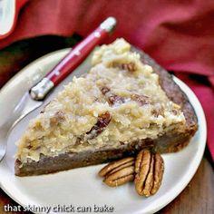 http://www.thatskinnychickcanbake.com/german-chocolate-brownie-pie/