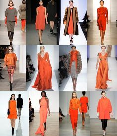 Fave NYFW Trend: Orange Tangerine. Love all the orange!!