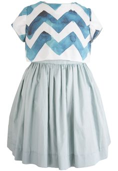 Teal Crop Top Dress. Looks like two pieces, but functions as a dress. For girls up to size 8. (I wish it went up to tween sizes. I think this would appeal to 10 & 11 years olds as well.)