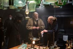 Brendan Gleeson and director Ron Howard on the set of In The Heart of the Sea