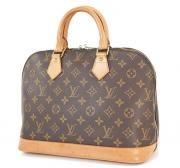 Authentic Louis Vuitton Alma Monogram Hand Bag Purse