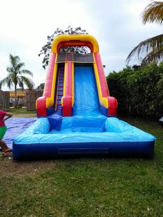 Thank you for visiting Nicky Party Rentals Miami Company. Widely known as the most popular bounce house rentals in Miami, that you and your family deserve. Water Slides Backyard, Backyard Water Parks, Backyard Play, Inflatable Water Park, Inflatable Bounce House, Blow Up Water Slide, Water Bounce House, Piscina Intex, Bounce House Rentals