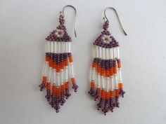 Vintage Bead Earrings made by Cora Tribe