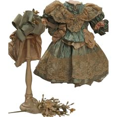 ~~~ Marvelous French Silk Bebe Costume with Bonnet ~~~