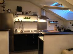 black kitchen. concrete floors. | Kitchen | Pinterest | More best ...