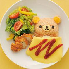 All about Hello Kitty to Rilakkuma and every kawaii cuteness. Kawaii Bento, Cute Bento, Cute Food, Good Food, Yummy Food, Amazing Food Art, Omurice, Creative Food Art, Japanese Sweets