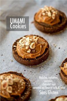 Umami Cookies (sin gluten) – Tarthélémy Tahini, Cookies Sans Gluten, Cookies Receta, Cookies Et Biscuits, Muffins, Breakfast, Desserts, Food, Toffee Cookies