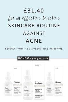 Looking to kick butt to your acne? Have spots that revolve in a 30 day cycle and skin that never seems clear? Want to treat your acne intelligently with skincare that's effective and (best part) doesn't break the bank? Yes? Well you my friend are in need of something called the ordinary acne regimen - the irony is, the products you'll be using alongside their actives and price tags are not so ordinary at all. Come see what i mean...