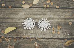 Starburst Earrings for the Bride