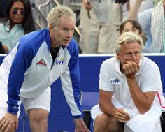 John McEnroe and Bjorn Borg, 2011 Together again. Mac lost form when Borg retired and blamed him for taking away the only opponent that brought the best in him...
