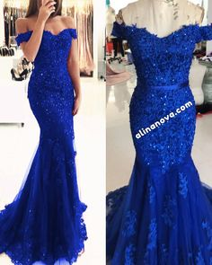 Lace Mermaid Prom Dresses 2019 Off Shoulder Evening Gown – alinanova Lace Mermaid Prom Dresses 2019 Off Shoulder Evening Gown – alinanova royal blue mermaid evening gown lace off shoulder prom dresses elegant<br> Royal Blue Bridesmaid Dresses, Cute Prom Dresses, Prom Outfits, Royal Blue Dresses, Party Dresses, Long Blue Prom Dresses, Royal Blue Gown, Prom Gowns, Pageant Dresses