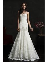 Schnürung Trägerloses Meerjungfrau Schönes Hochzeitskleid Adora