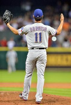 Yu Darvish (Texas Rangers) Reaction to the hit that broke up his PERFECT game.