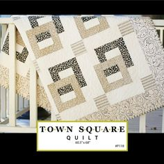Town Square Quilt Download Pattern by sweetwaterscrapbook on Etsy