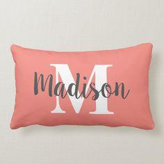 Cricut Monogram, Monogram Shirts, Vinyl Shirts, Custom Sofa, Custom Pillows, Diy Pillows, Decorative Pillows, Sofa Pillows, Initial Pillow