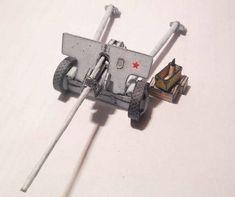 WWII 57 mm Anti-tank Gun M1943 (ZiS-2) Free Paper Model Download