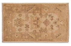 "3'x5'1"" Turkish Oushak Rug - Tan - Apadana Fine Rugs"