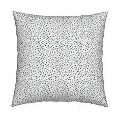Black Dots fabric, wallpaper, pillows, gift wrap etc. Pattern design by Minikuosi. #sewing #spoonflower #fabrics