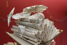 Book Sculpture by me.