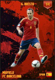 #Iniesta Spain FIFA World Cup 2014 Lineup