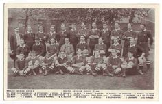 The 1906 South African national rugby team the first team to be called ? - Springbok rugby in South Africa and the South Africa rugby team South Africa Rugby Team, South African Rugby, South Africa Tours, Rugby Poster, International Rugby, Rugby Sport, Rugby Players, Illustrations, South Africa