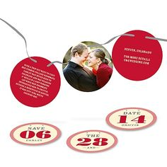 Engagement Photo Card - Ribbon Strand of Love