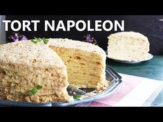 TORT NAPOLEON I Rețetă + Video - Valerie's Food Krispie Treats, Rice Krispies, Napoleon, Cornbread, Vanilla Cake, Deserts, Cooking, Ethnic Recipes, Youtube