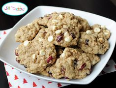 cranberry white chocolate oatmeal cookies | Meet the Dubiens