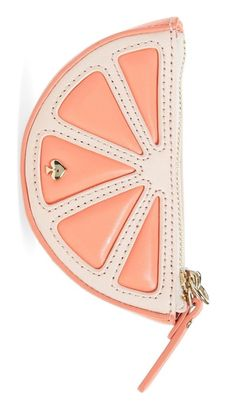 A sweet treat for the summer that'll last forever, this glossy little coin purse by Kate Spade is perfect for adding a bit of pop to everyday exchanges.