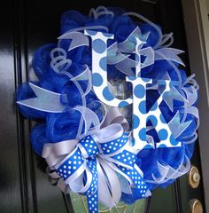 University of Kentucky Wildcats Wreath by polkadotowlcreations, $95.00