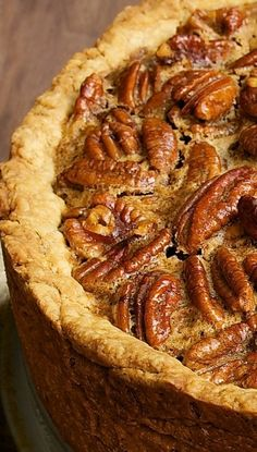 Deep-Dish Pecan Pie | Fall baking, holiday desserts
