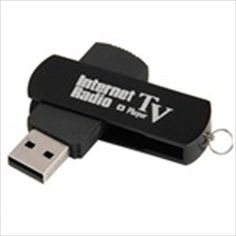 USB 2.0 Worldwide Internet TV & Radio Stations Player Dongle for Computer Laptop - Black $11.97