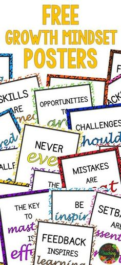 Growth Mindset Posters for the Classroom or Bulletin Board FREE Growth Mindset Posters (for classroom bulletin boards and classroom décor)Growth Growth may refer to: Classroom Bulletin Boards, Classroom Posters, Classroom Décor, Preschool Bulletin, Counseling Posters, Student Centered Classroom, Science Bulletin Boards, Classroom Quotes, Teacher Quotes