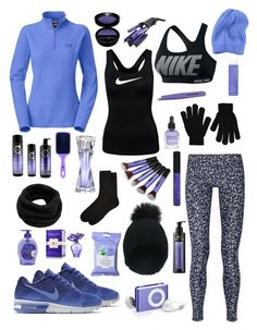 """Martina"" by nicole-288 ❤ liked on Polyvore featuring The North Face, Tory Burch, NIKE, Helmut Lang, Boohoo, Accessorize, Lancôme, Deborah Lippmann, NYX and shu uemura"