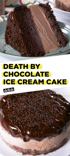 Death By Chocolate Ice Cream Cake will be the star of every party. Get the recipe at Delish.com. #recipe #easy #easyrecipe #cake #chocolate #icecream #dessert #chocolatecake #chocolaterecipes #dessertrecipes